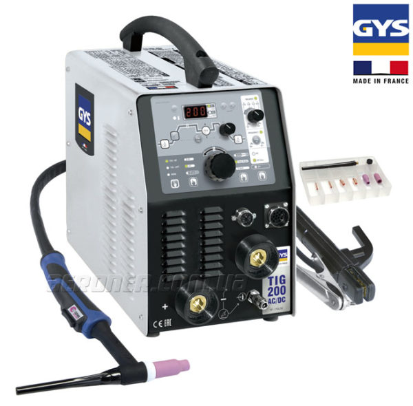 Сварочный аппарат GYS TIG 200 AC/DC с аксессуарами SR 26DB – 011618