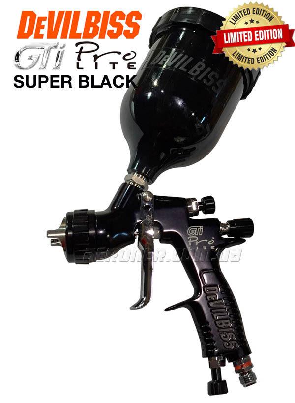 Краскопульт DeVilbiss GTi Pro Lite TE10 SUPER BLACK Limited