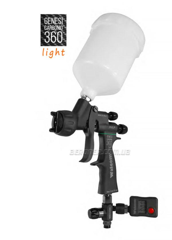Краскопульт Walcom Carbonio Light HVLP с манометром
