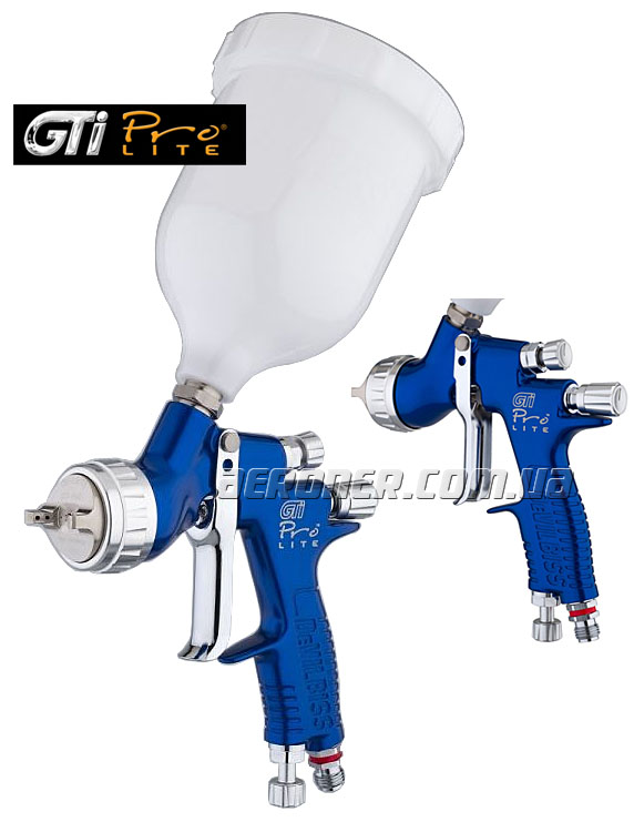 Краскопульт DeVilbiss GTi ProLite Blue TE10 1,2+1,3