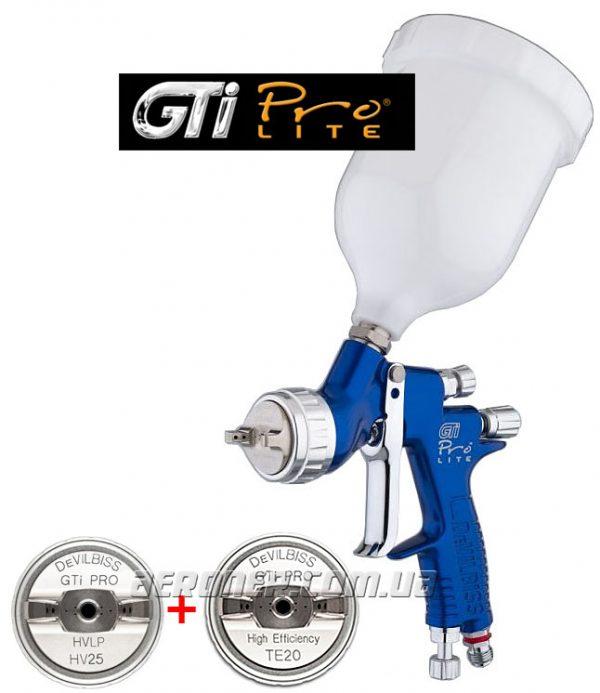 Краскопульт DeVilbiss GTi ProLite Dual Pack HV25+TE20
